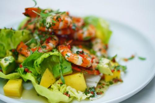 Prawn, Mango, and Avocado Salad
